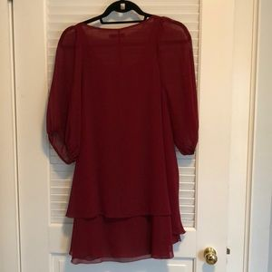 Millau Tops - Red flowy tunic/ dress